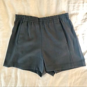 Aritzia Babaton Slate Blue Flowy Pull On Shorts